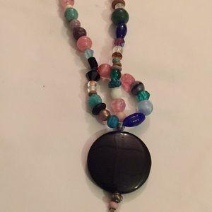 Multi stone beads necklace